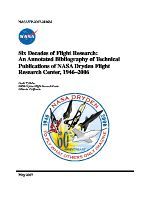 Six Decades of Flight Research An Annotated Bibliography of Technical Publications of NASA Dryden Flight Research Center, 1946–2006_部分1.pdf